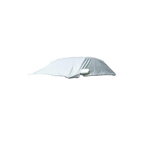VORCOOL Universal Half Car Cover Wasserdicht Schnee Eis Sun UV Regen Schatten Abdeckung Outdoor Protector für 5 Sitz Autos (Silber) (Auto-sitz-schatten-abdeckung)