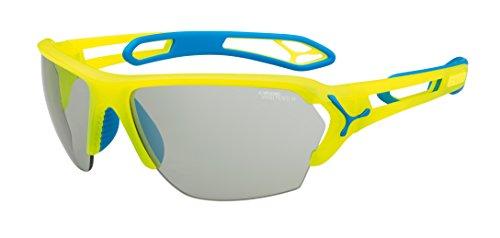 Cébé S'Track - Gafas de sol deportivas, color amarillo neón, talla L