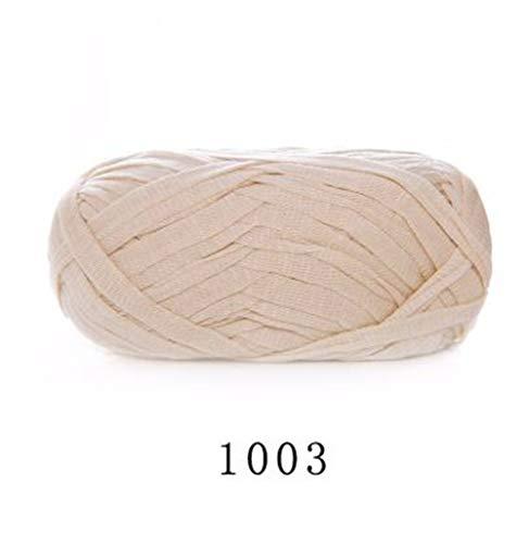 WanJiaMen'Shop Etwa 70m Flache Garn DIY Garn Stricken Wolle für Teppichgarn gewebte Baumwolle Hand Tuch häkeln Korb Teppich Decke Tasche Korb, B (Teppich-korb)
