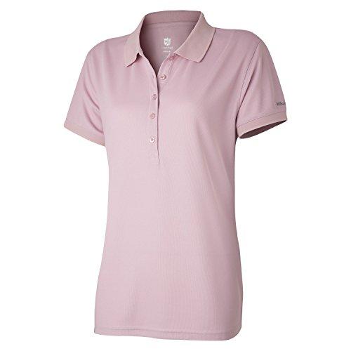 Wilson Damen Golf Poloshirt, Authentic Polo,Rosa (Zephyr Pink), XL