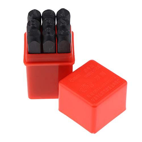 sharprepublic 9pcs 8mm Stahl Metal Punch 0 9 Anzahl Stamping Stamping Kit Set Mit Rotem Gehäuse