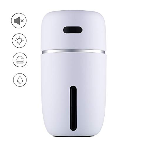 TongNS1 Humidificador De Aire Ultrasónico Dos Modos De Pulverización USB Nano Agua Nebulizada Gran...