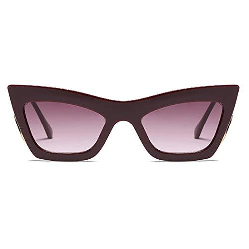 Lvminhm Big Frames Fashion Metal Cat Eye Sonnenbrille Weibliche Uv400 Gradient Color Lens,C2