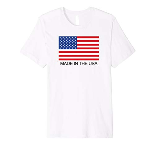 Made In The USA American Flag T-Shirt (American Flag Damen Shirt)