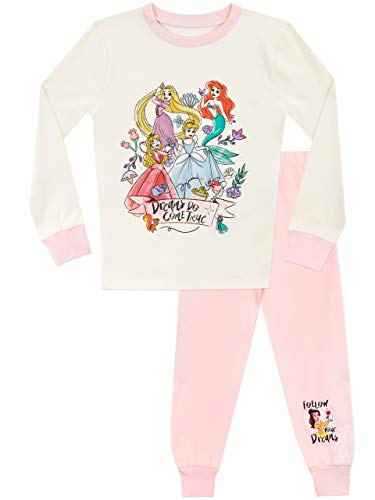 Disney Pijamas de Manga Corta para niñas Princesas Ajuste Ceñido