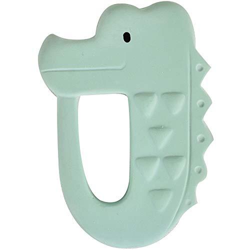 Tikiri 8591504 Beissring Krokodil aus Naturkautschuk Greifling für Babys Babyspielzeug