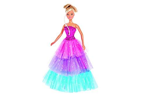 Simba 105739479 - Steffi Love Puppe im farbenfrohen und glamourösen Kleid