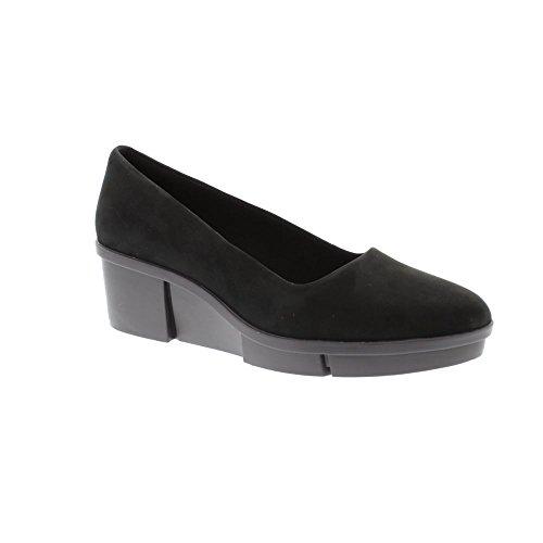 Wedges Clark Schuhe (Clarks Schuhe 26.130.986 Pola Mae 40 Schwarz)