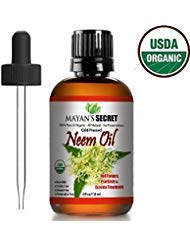 USDA Certified Organic Neem Oil Pure Cold Press, Unrefined for Skin care, Hair Care, and Natural Bug Repellent