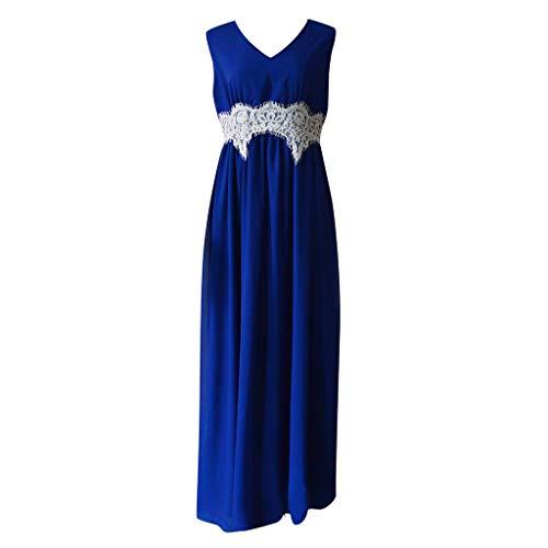 Jahre Kostüm 70er Selbstgemacht - Lazzboy Frauen Mittelalterlichen Renaissance Gothic Lace Bodenlangen Cosplay Retro Langes Kleid(Blau,XL)