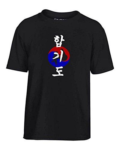 T-Shirtshock - T-shirt para ninos TAM0094 korean hapkido dark tshirt, Talla 9-11años