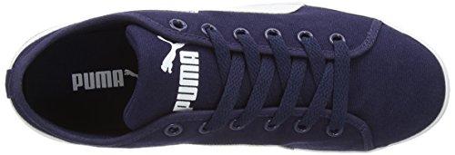 Puma - Elsu Canvas, sneakers da unisex adulto Blu (Blau (peacoat-white 10))
