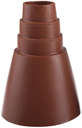 DUR-line Universal Gummi-Manschette - Rot - Made in Germany - 32-60 mm Durchmesser - Superelastisch und UV-beständig; Abdichten von Antennenmasten [Dachziegel, Gummi-Abdichtung; Manschette]