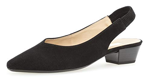Gabor 25.630 Damen Pumps,Sling-Pumps, Frauen,Slingback Pumps,modisch,Fashion,schwarz,6 UK Sling Pumps Schuhe