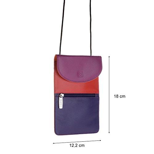 Dudu - Sac porté épaule en cuir - Colorful Collection - Barbara - Fuschia