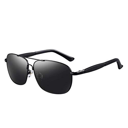 cool show Herren Polarisierte Sonnenbrille, Edelstahl, rechteckige Lampenschirme Gr. Einheitsgröße, Polarized-black - Rechteckige Lampenschirm