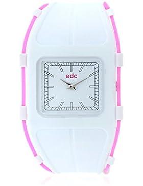 Edc Damen-Armbanduhr Glowing Star - Disco White, Pink Analog Quarz Plastik EE100702004