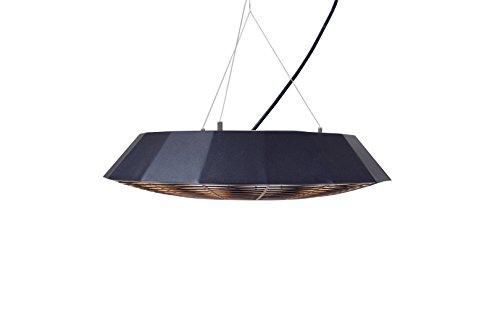 Sunred Hängemodell 2000 W Halogen mit Beleuchtung, schwarz, 44 x 44 x 30 cm, CUF17B - 2