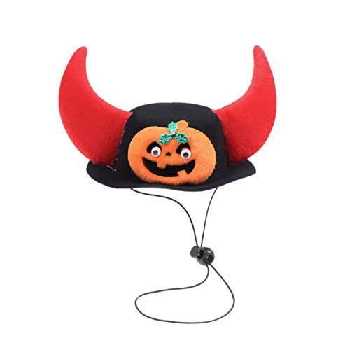 Kostüm Teufel Einfache - Amosfun Haustier Halloween Kostüm Teufel Horn Hut Halloween Party Hund Kopfbedeckung Hut Cosplay Zubehör für Hund Haustier Halloween Party Gefälligkeiten