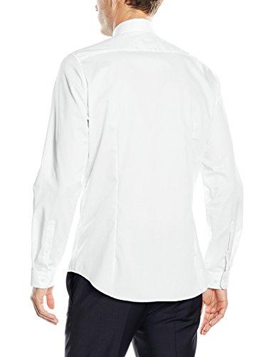 Seidensticker Kent, Chemisier Business Homme Blanc - Blanc (01)