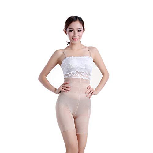 IZHH Damen Beauty Abnehmen Shapewear Fettverbrennung schlanke Form Bodysuit Hosen Hohe Taille Korsett(Weiß,L)