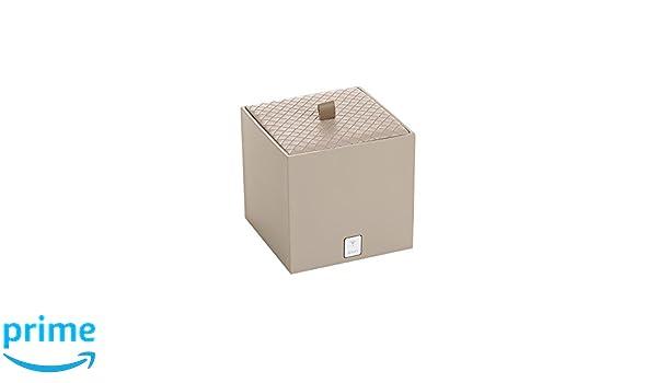 gris Bo/îte /à lingettes demaquillantes Carr/é 13,30x13,30x13,30 cm Joop