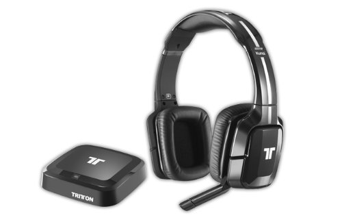 Tritton - Auriculares Inalámbricos Kunai, Color Negro (PS4, PS3, Xbox 360, PC, Mac)