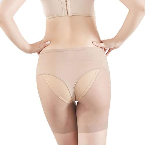 hunpta@ Shapewear Damen,Frauen Shapewear Shorts Panty Mitte Oberschenkel Body Shaper Bodysui,Damen Miederhose Higher Power Shapewear(Khaki,L) -