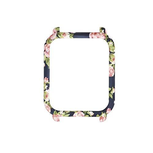 Vamoro Neue Muster-PC-Hülle Schutzhülle Elegante Leichte Hülle Kratzschutz Slim Minimalistisch PC Schale Hardcase Schutzhülle für Xiaomi Huami Amazfit Bip Youth Watch (D)