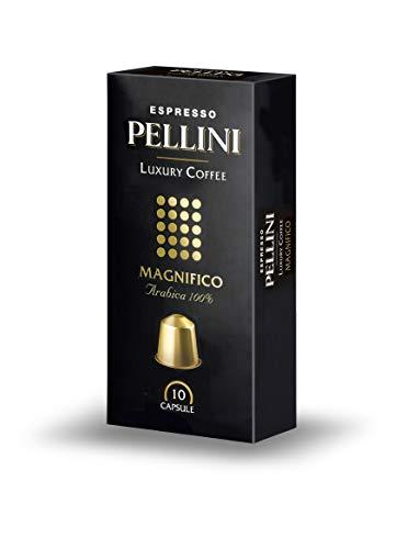 Pellini Caffè Luxury Coffee Magnifico - Nespresso kompatibel, 10 Kapseln, 2er Pack (2 x 50 g)