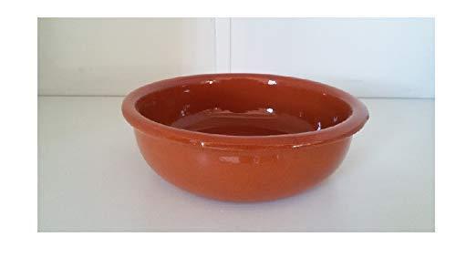 Tegamini grandi (set 8 pezzi) in terracotta. diametro cm. 16, altezza cm. 5. tegame per il forno. made in italy