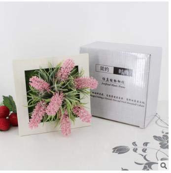 SimpleLife Planta de Suculentas Cuadradas Artificiales Cuadro de Planta de Flores Marco de Pared LKG