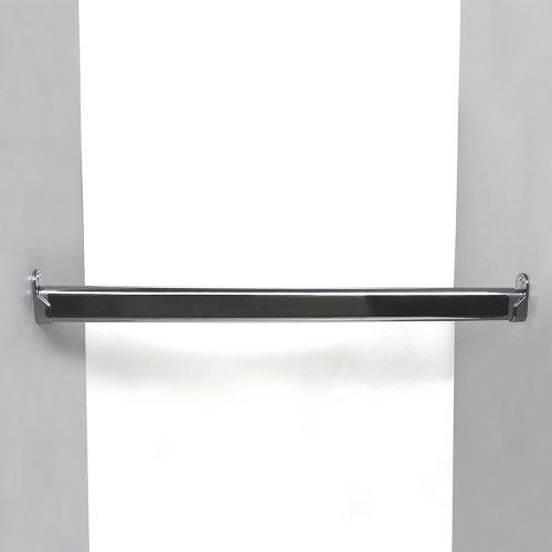 Kleiderstange  Schrankrohr Set für Garderobe Kleiderschrank oder Nische (100-150cm)