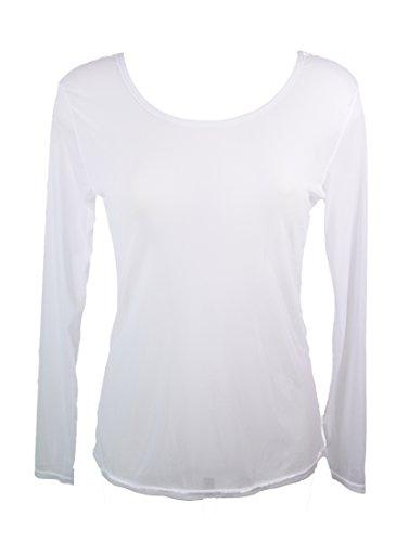 Miss rouge: T-shirt, Haut en voile transparente Blanc