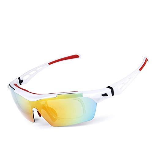 Lafeil Fahrradbrille Herren Damen Herren Polarisierte Sonnenbrillen Reitbrillen Outdoor Männer Und Frauen Sport Sandproof Goggles Weiß Rot