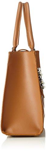 Chicca Borse 8881, Borsa a Mano Donna, 34x26x13 cm (W x H x L) Marrone (Cuoio)