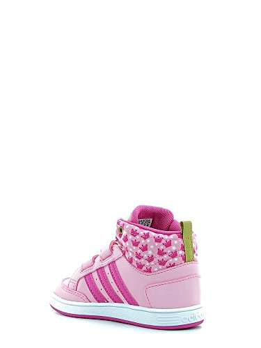 adidas Hoops Cmf Mid Inf, Scarpe da Ginnastica Unisex – Bambini Rosa (Rossua/Rosa/Dormet)