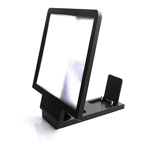 CHOULI Portable 3D Video Screen Amplifier Folding Enlarged Expander Stand Holder Black (Screen Portable Stand)