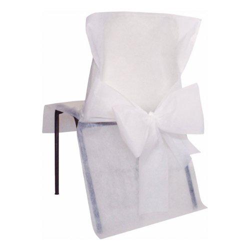 10 x Einweg Stuhlhussen Weiß