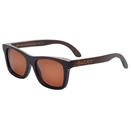 Iwood Hechas a mano. gafas de sol polarizadas de bambú