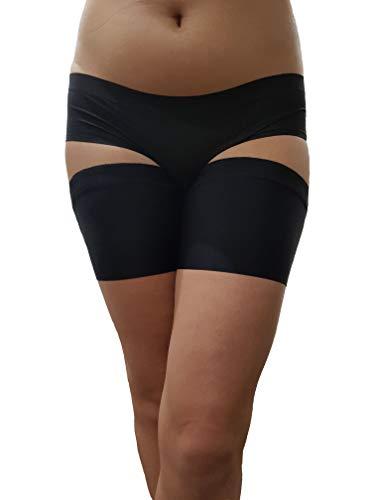 flirtyna Oberschenkelschoner, Oberschenkelbänder gegen Reibung, Shaper, Anti-Chafing (76-78, schwarz)