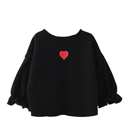 ESHOO Baby Mädchen Shirt Frühling Herbst Puff Sleeve Fleece Sweatshirt Tops (Puff Top Sleeve Girls)