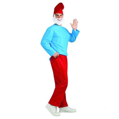 Herren-Kostüm Papa Schlumpf Die Schlümpfe Gr. Std. 48-52 RUBIES ArtNr 3887331 (Erwachsenen Papa Schlumpf Kostüme)