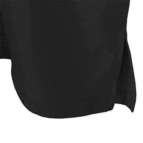 Yeesea Donna Maglietta Manica Corta Stampa Graphic T-shirt Camicie Crop Tops Nero