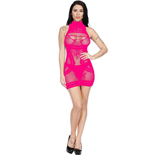Dtuta Mode Frauen Transparente Mesh Bodystockings Perspektive Sexy Dessous Kleid Appeal UnterwäSche