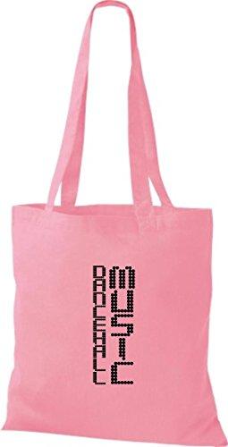ShirtInStyle Stoffbeutel Musik Beutel Dancehall Music Baumwolltasche Beutel, diverse Farbe classic pink