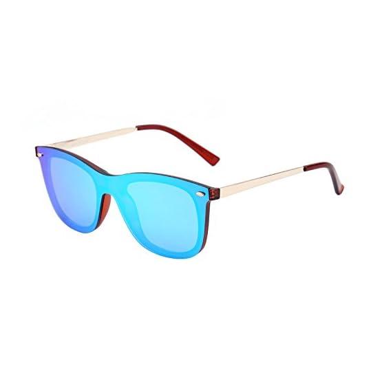 5dd020d2fe Sin Montura Espejo Gafas de Sol Una Pieza Sin Marco Anteojos Hombre Mujer