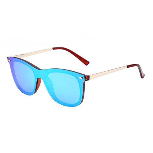 Gafas de Sol de Espejo Sin Montura Wayfarer Una Pieza Sin Marco ...