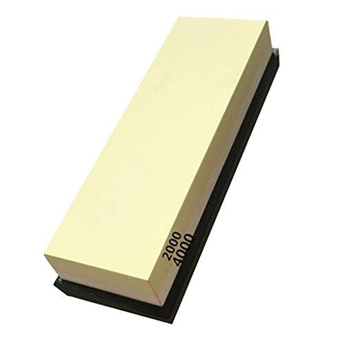 TianranRT Afilador de piedra doble piedra de afilar afilador afilador cocina (G)