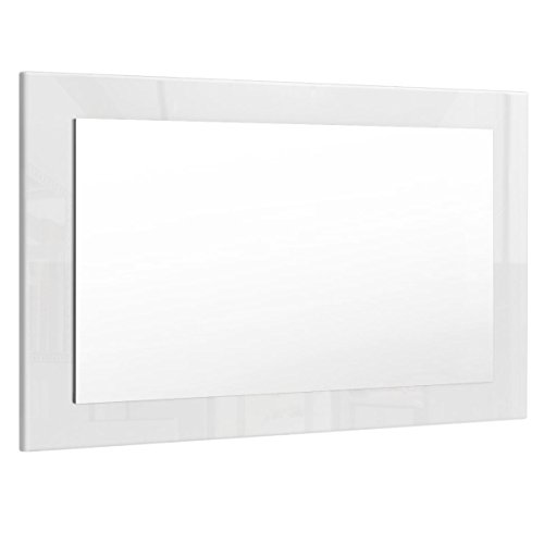 Espejo de Pared Lima 89cm en Blanco de Alto Brillo